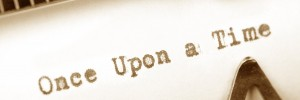 Typewriter close up shot, concept of story, Once Upon a Time